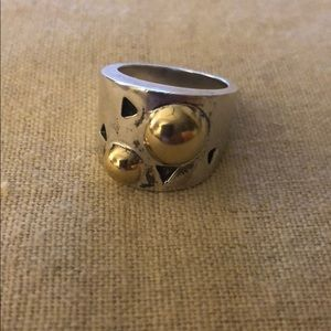 Jewelry - Sterling silver and gold ring